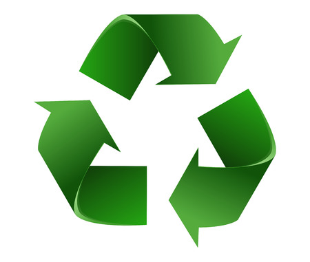 Recyclen symbol.Isolated Op Witte Achtergrond. Vector Illustratie Stock Illustratie