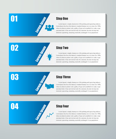 Design clean number banners template.graphic or website layout. Vector.