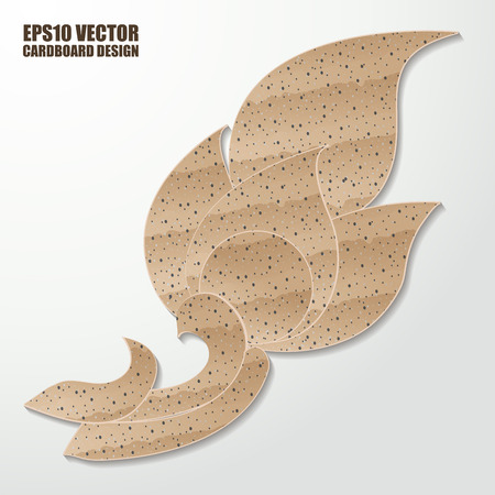 paper sculpture: Abstract cardboard  thai painting. Vector illustration