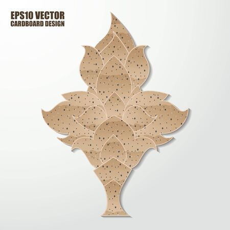 corrugated cardboard: Abstract cardboard  thai painting. Vector illustration