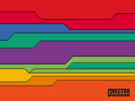 modern wallpaper: Abstract colorful striped background. Vector illustration