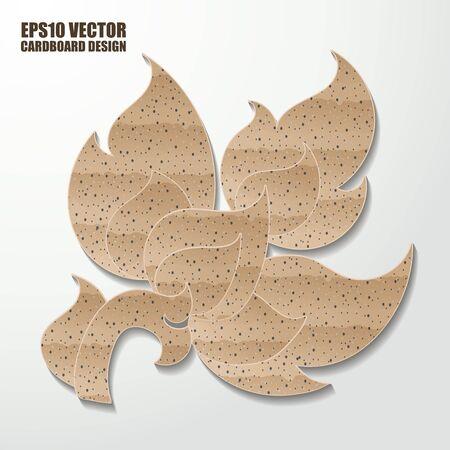 thai painting: Abstract cardboard  thai painting. Vector illustration