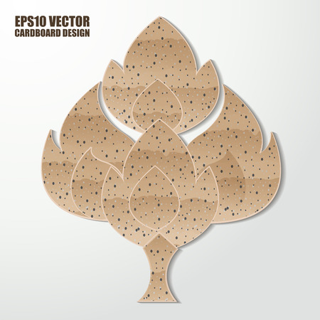 Abstract cardboard  thai painting. Vector illustration