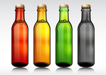 tipple: Glass beer bottle.vector illustration.