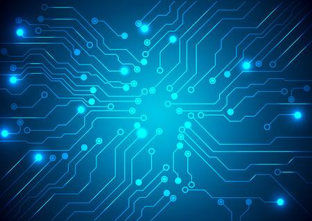 回路基板のテクスチャーと技術のベクトルの背景