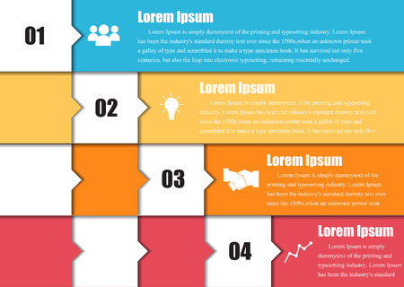 Vector arrows for infographic. Abstract background.