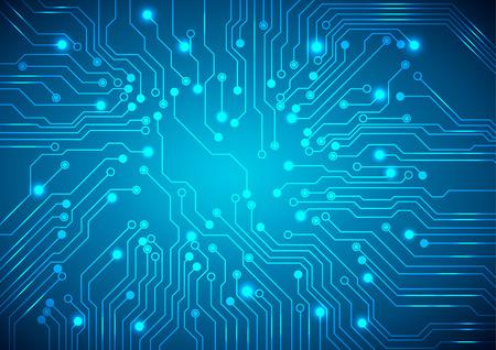 技術回路基板を抽象化、ベクター背景。
