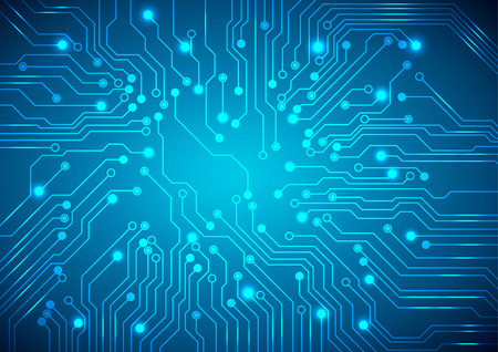 Abstract technology circuit board, Vector background. Çizim