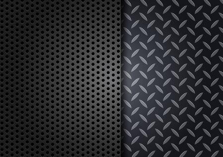 treadplate: Metal Texture Background.vector illustration Illustration