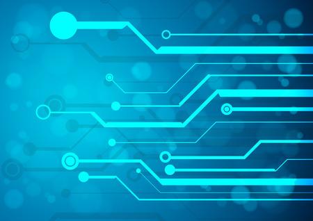 circuitos electricos: Placa de circuito de tecnología abstracta, Vector de fondo.