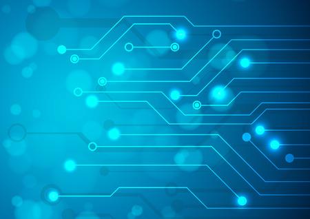 circuitos electronicos: Placa de circuito de tecnología abstracta, Vector de fondo.