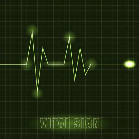 Heart cardiogram illustration Illustration
