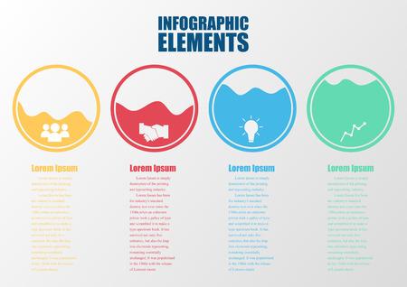Infographic design color circles.  Illustration
