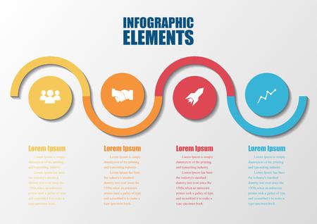 Infographic design on the grey background Stock Illustratie