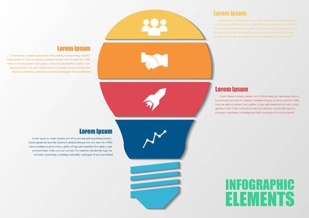 colorful infographic bulb. infographic concept.