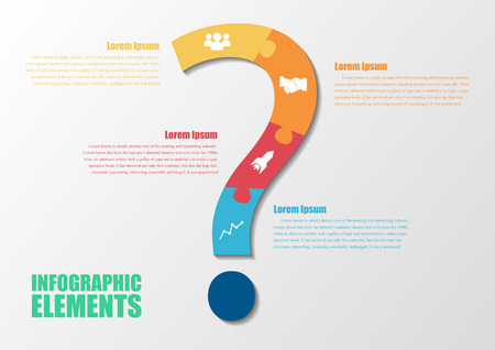 Question mark abstract background design and infographics Illustration