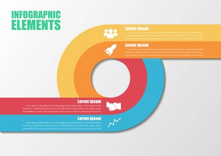 Infographic with circles.