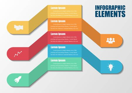 Infographics bar number options design template.