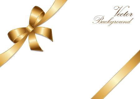 golden bow ribbon design.