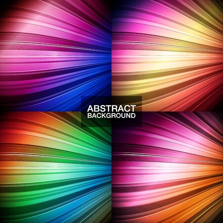 Set of colorful abstract backgrounds.