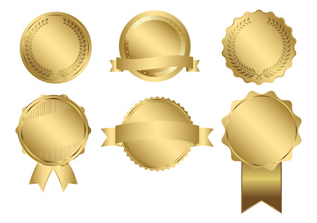 Badges of Gold Seal Set Фото со стока - 42716453