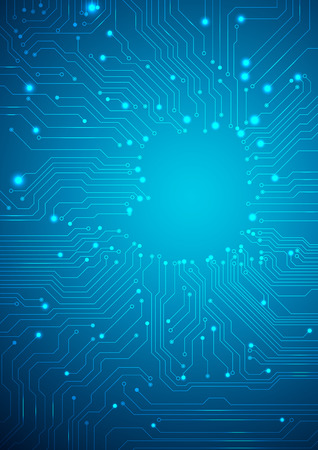 Technological background with a circuit board texture