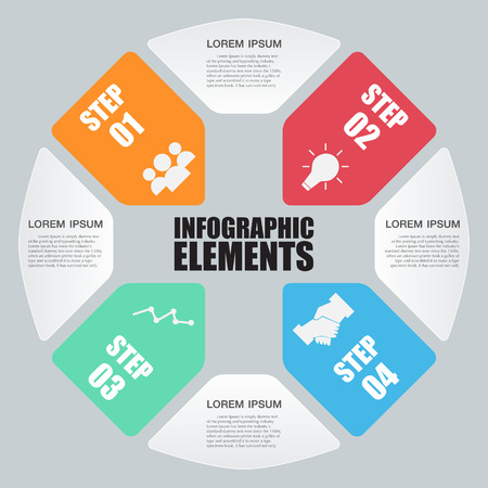circle plus sign infographic.Template for diagram