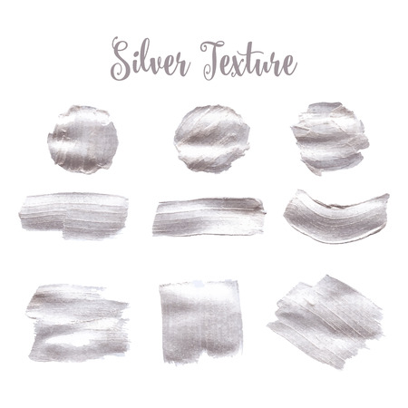 Silver texture. A water color background for festive inscriptions, cards, invitations, congratulations and design. Stock Illustratie