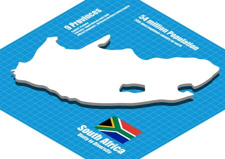 south africa map: South Africa map three dimensional