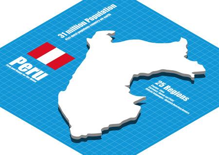 mapa del peru: Perú mapa tridimensional