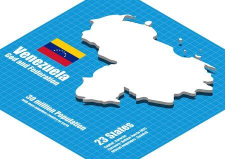 mapa de venezuela: Mapa de Venezuela en tres dimensiones