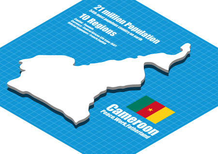 cameroon: Cameroon map three dimensional