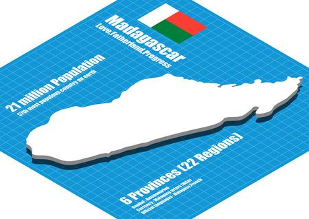 madagascar: Madagascar map three dimensional