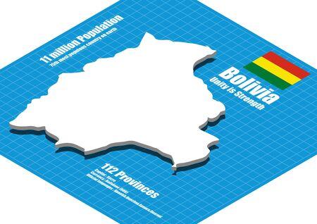 mapa de bolivia: Bolivia mapa tridimensional