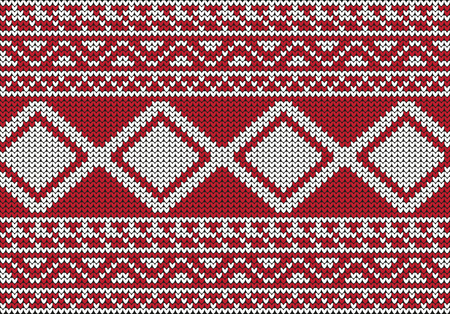 isle: Christmas Sweater Design. Seamless Pattern