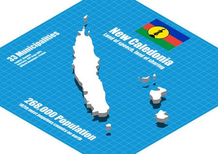 new caledonia: New Caledonia  map vector three dimensional