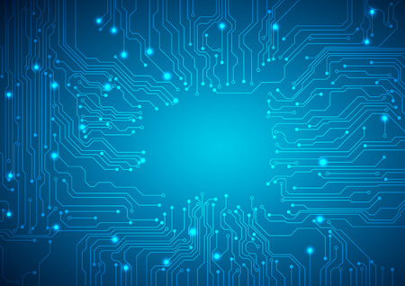 circuitos electricos: Vector de fondo tecnológico con una textura de placa de circuito Vectores