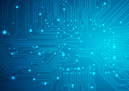 science and technology: Technological vector background with a circuit board texture