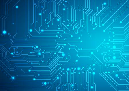 technologia: Technologiczne tło wektor z obwodami tekstury Ilustracja