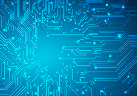 electronic circuit: Technological vector background with a circuit board texture