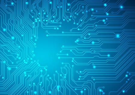 circuito electrico: Vector de fondo tecnológico con una textura de placa de circuito Vectores