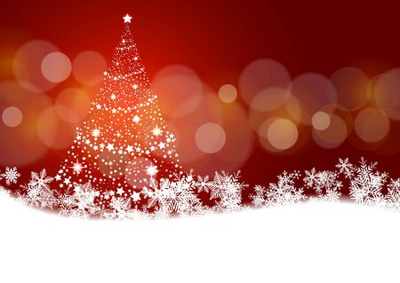 christmas tree illustration: Christmas background with Christmas tree illustration.