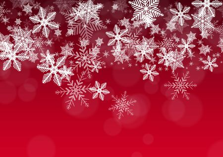 schneeflocke: Decorative Holiday Background with Snowflakes Illustration