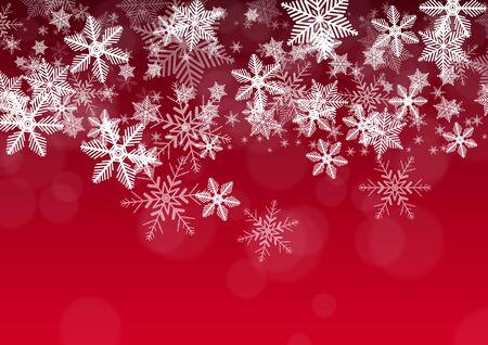 schneeflocke: Dekorative Feiertags-Hintergrund mit Schneeflocken Illustration