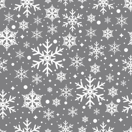 christmas seamless pattern: Seamless pattern with snowflakes. Christmas Background