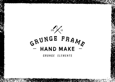 Grunge frame texture background,Vector illustration