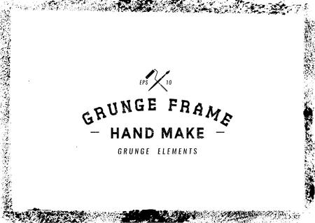 grunge frame: Grunge frame texture background,Vector illustration