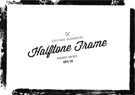 Grunge halftone frame texture,Vector illustration Illustration