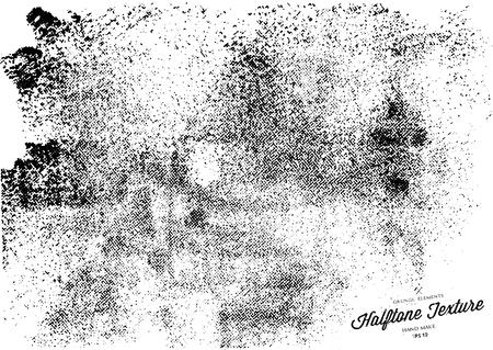 Grunge halftone background.Halftone dots vector texture