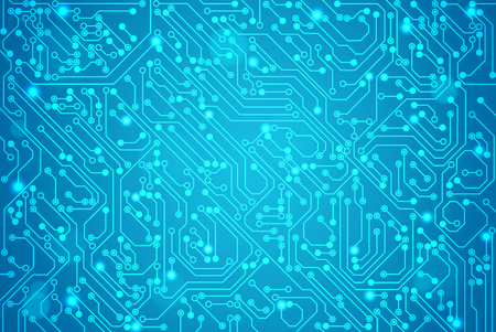 Abstract technology circuit board, Vector background. Ilustracja